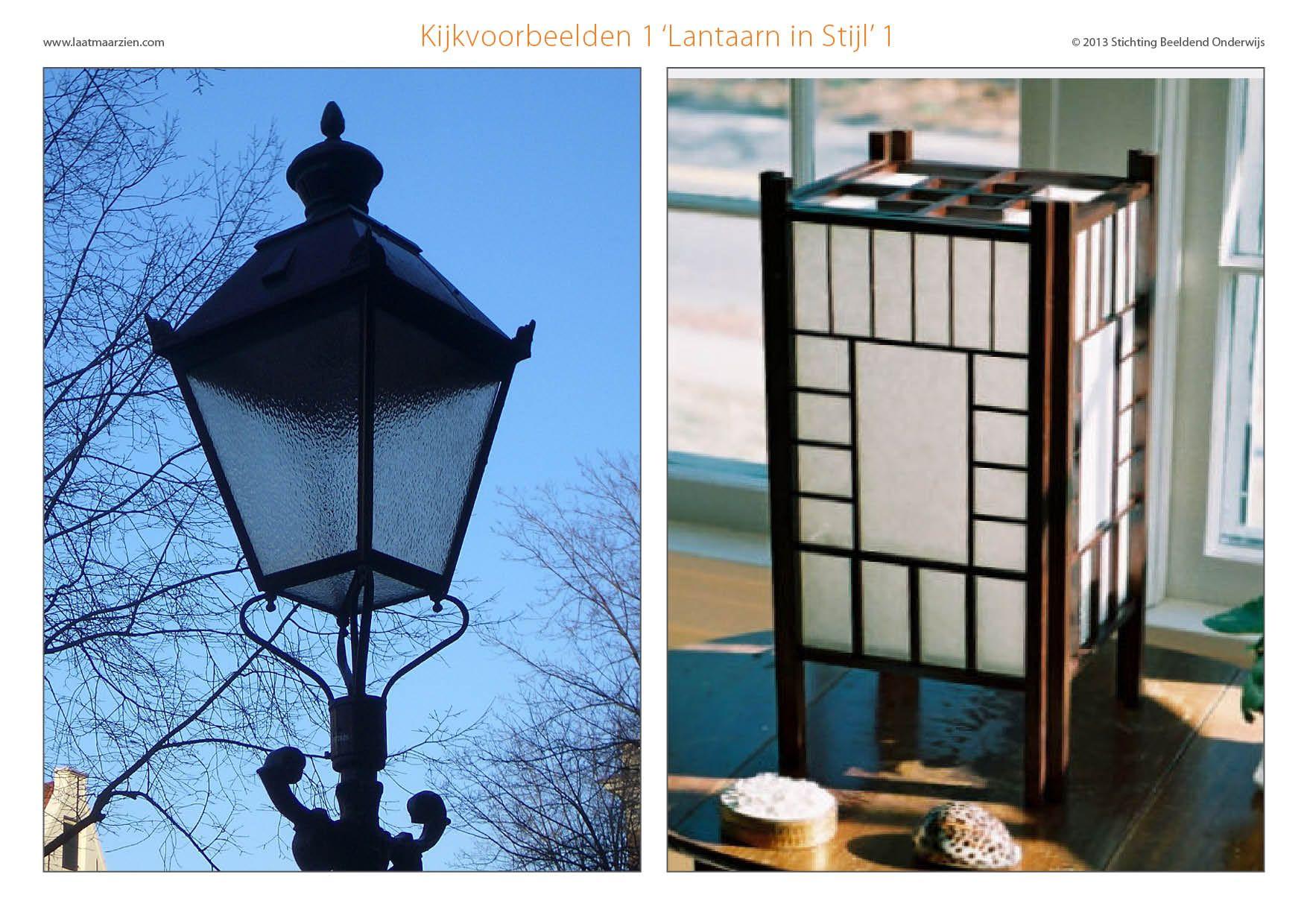 Digibord lantaarn in stijl 1 van 2 - Decoratie stijl van de bergen ...
